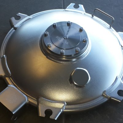 MH 6 Lug Fitted with 100mm Emergency & 32mm Combind vent 316SS